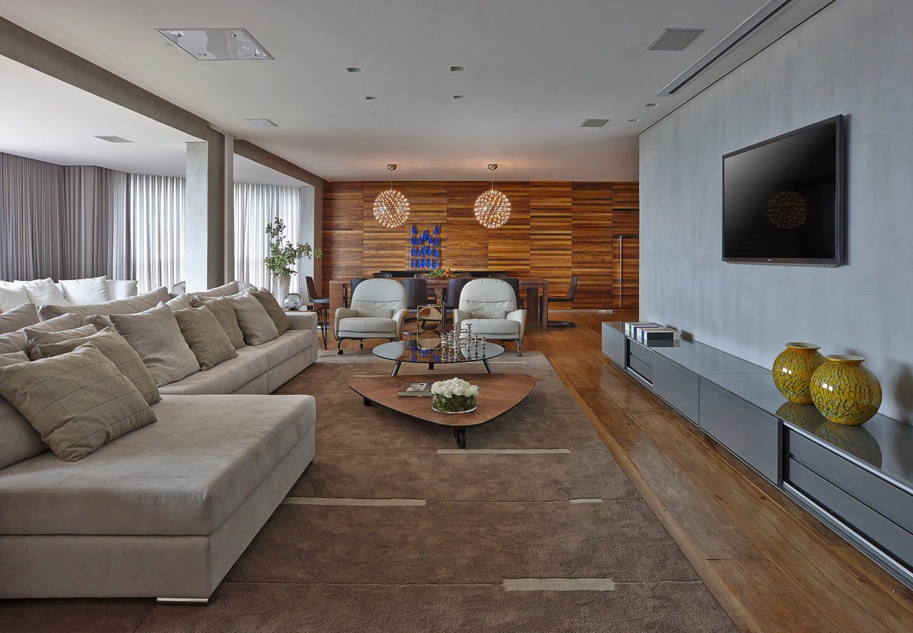 Sleek Warm Interior Apartment La By David Guerra