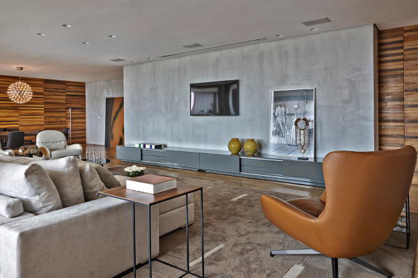 Sleek, Warm Interior: Apartment LA by David Guerra in main interior design architecture  Category