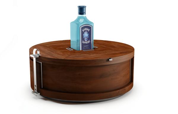 modern minibar gin wheel