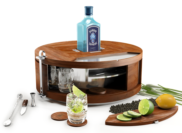 Bombay Sapphire Gin Wheel minibar