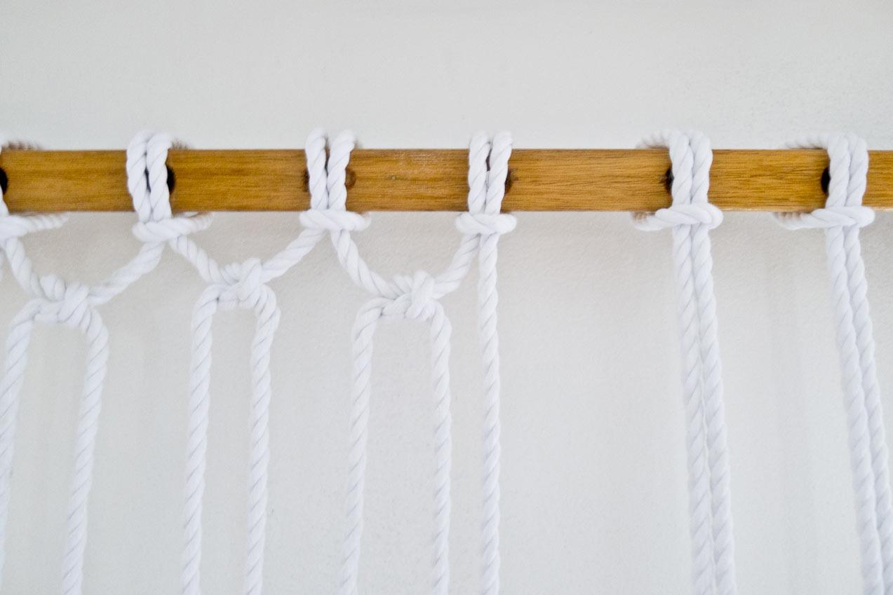 DIY Two-Tone Sail Rope Hammock