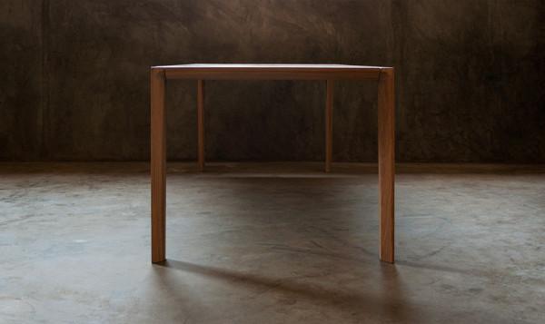 minimalist french oak table