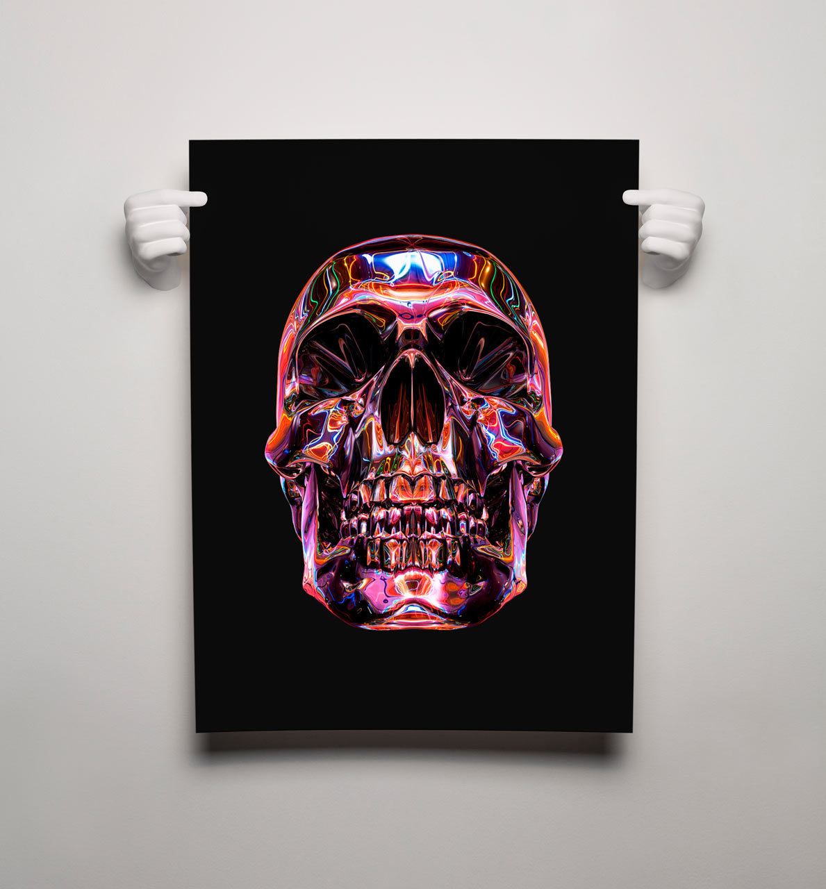 Poster design using 3d objects - 3d Printed Hands To Hold Your Prints Posters