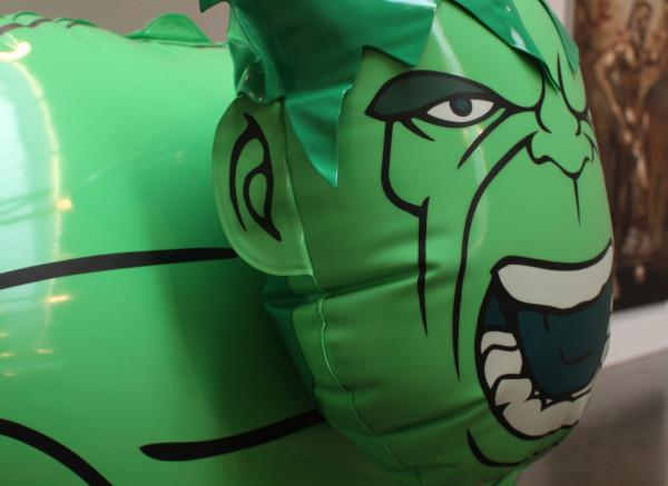 """Hulk (Wheelbarrow)"" (detail). © Jeff Koons. Courtesy Gagosian Gallery."