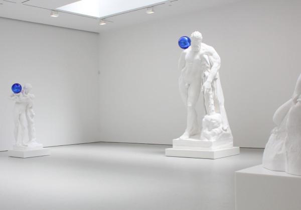 """Jeff Koons: Gazing Ball"" at David Zwirner Gallery. Installation view. © Jeff Koons. Courtesy David Zwirner Gallery"