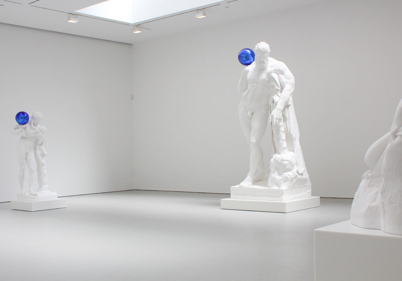 """Jeff Koons: Gazing Ball"" at David Zwirner Gallery. Installation view. © Jeff Koons. Courtesy David Zwirner Gallery"