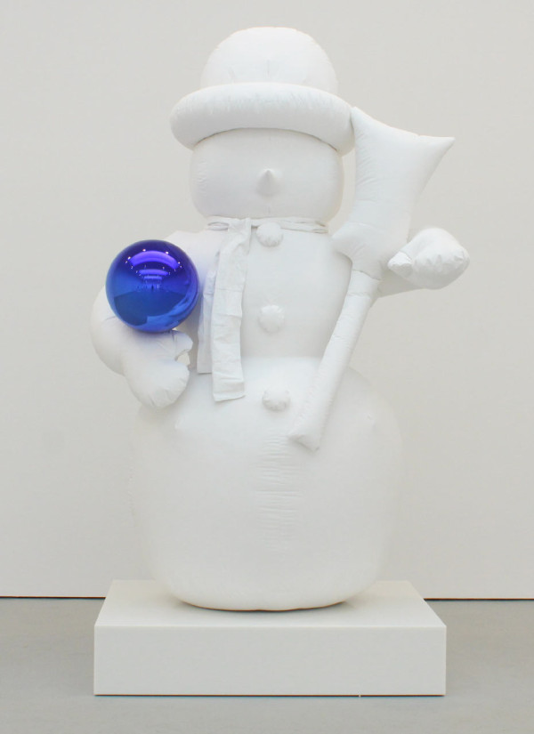 "Jeff Koons ""Gazing Ball (Snowman)"" 2013, Plaster and glass. © Jeff Koons. Courtesy David Zwirner Gallery"