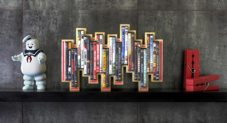 Blu-ray & DVD Holder Inspired by Music Levels