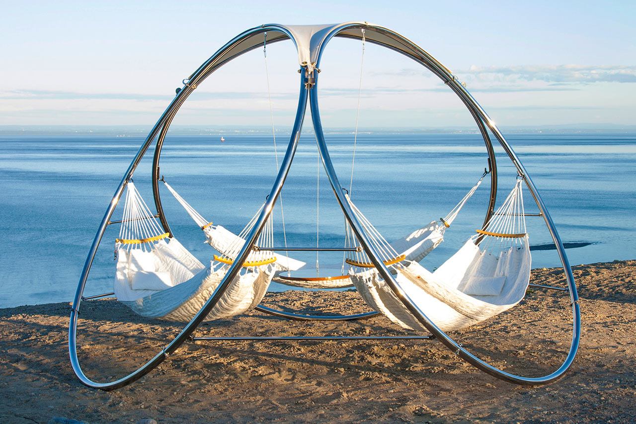 Backyard Hammock Design Triple Hammock From Trinity Hammocks Design Milk