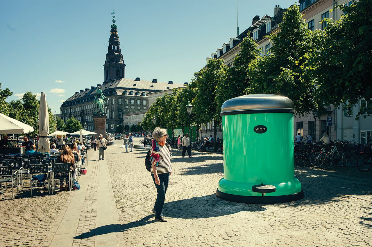 A Giant Vipp Bin To Keep Copenhagen Green