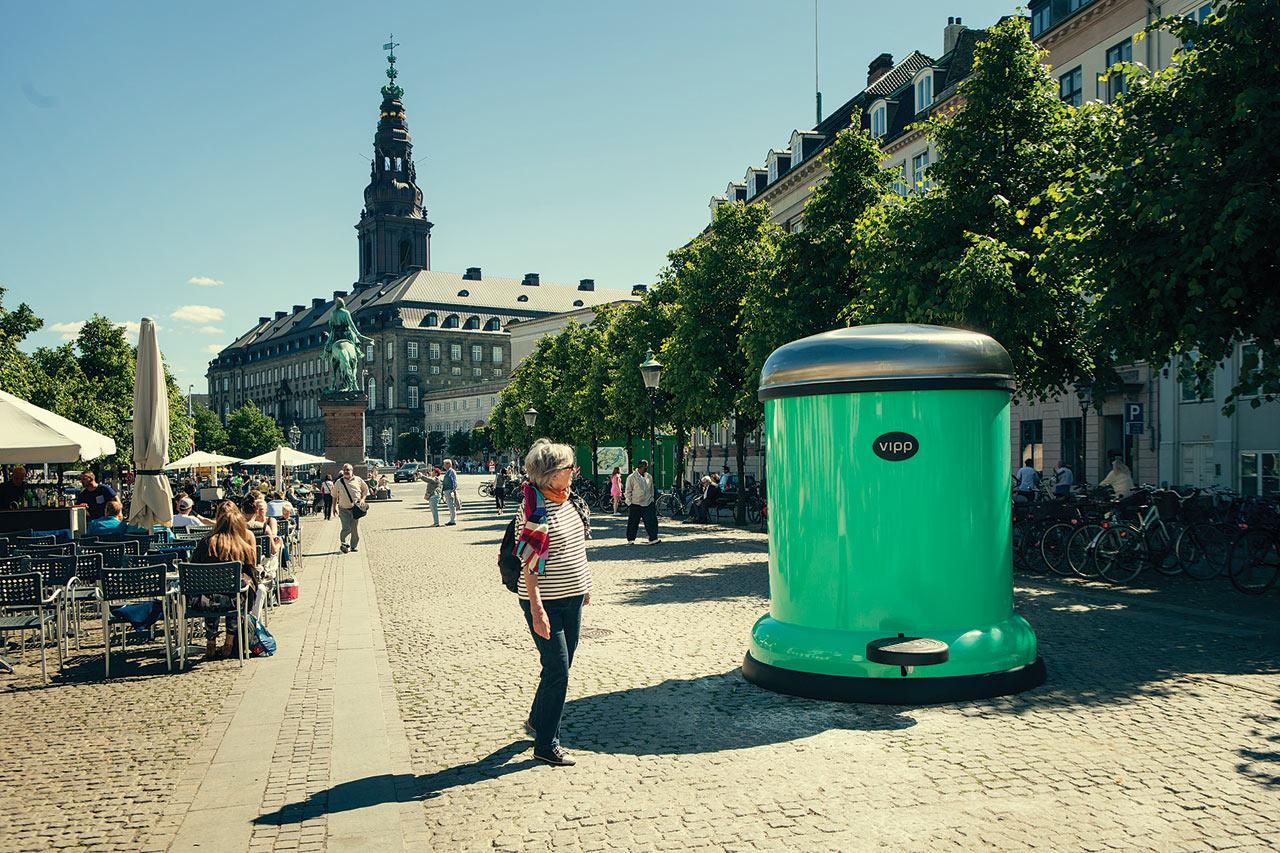 A Giant Vipp Bin To Keep Copenhagen Green