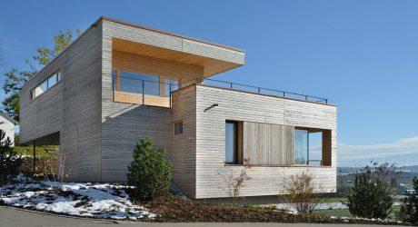 Layered Wood Boxes: Weinfelden House by k_m architektur