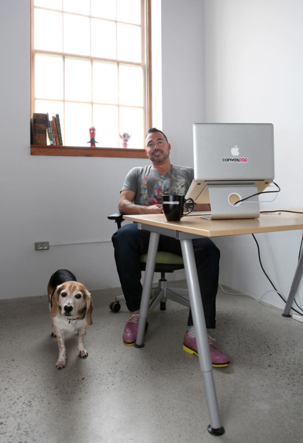 Co-founder Adrian Salamunovic and his dog Bosley