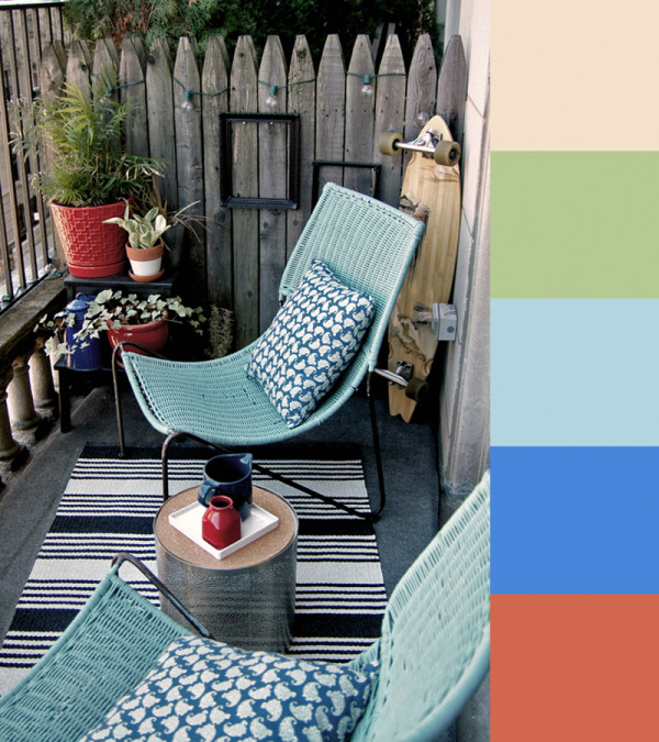 A Trio of Colorful Outdoor Spaces in main interior design  Category