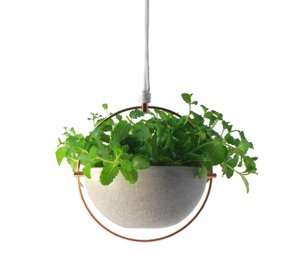 Terrazzo Hanging Pot & Bird Feeder by Panorámica
