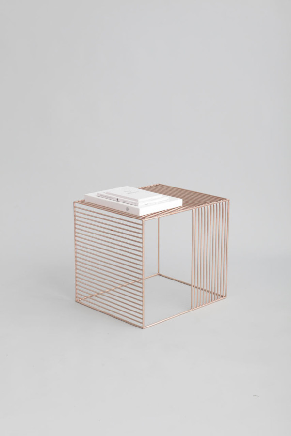Luxury copper wire side table iacoli mcallister