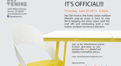 Join Ilan Dei Venice During the Los Angeles Design Festival