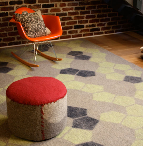 Handmade Felt Rugs from Peace Industry