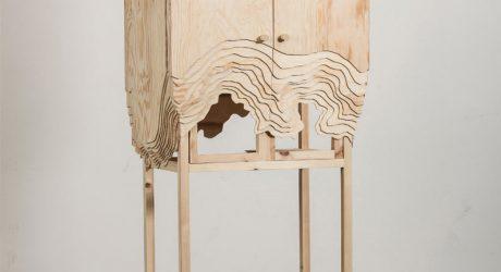 Furniture Erosion: Nate Cabinet by Lisa Berkert Wallard