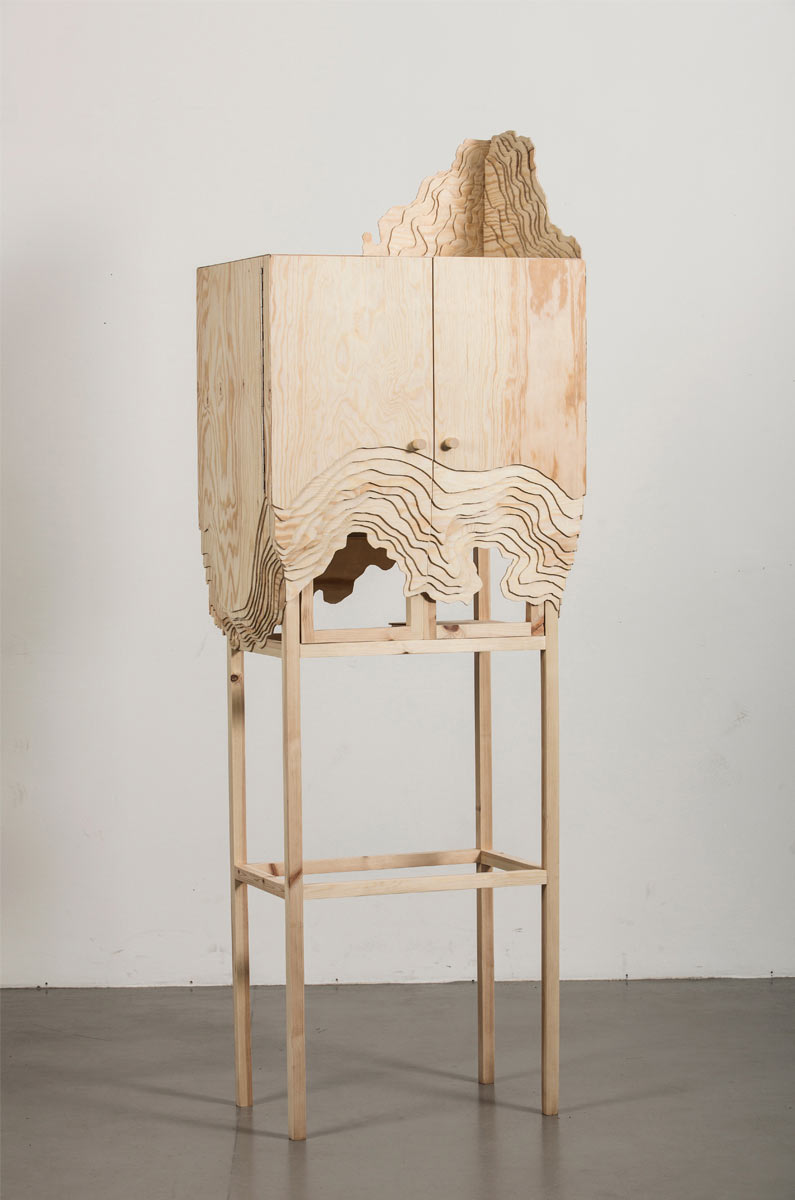 Furniture Erosion: Nate Cabinet by Lisa Berkert Wallard