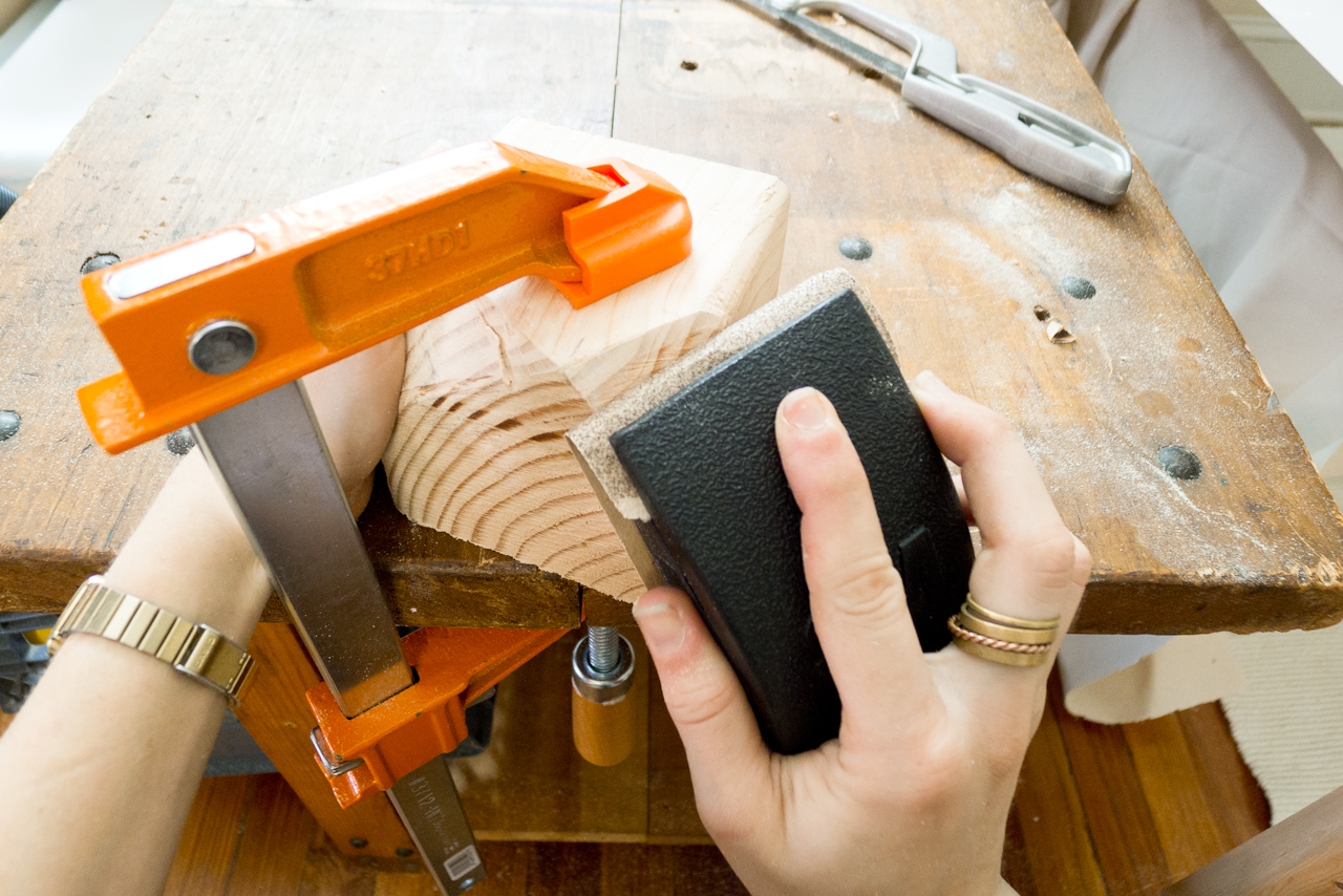 DIY Chromed Faceted Wood Door Handle