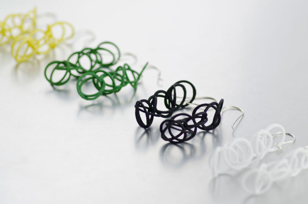 Platonix Circle Earrings in spring colours