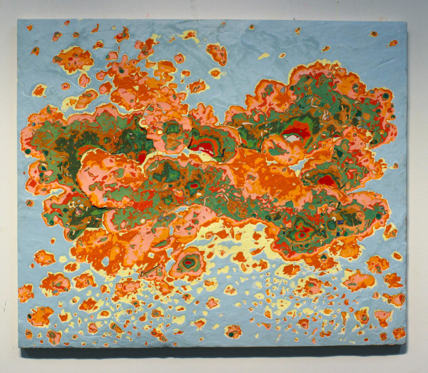 """Landscape in flight"", Acrylic on panel, 24x36"