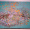 """Landscape in flight"", Acrylic on Panel, 44x77"
