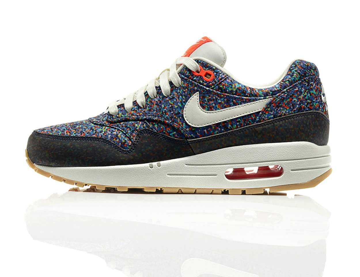 The Nike Air Max 1 gets the Liberty treatment with the playful print.