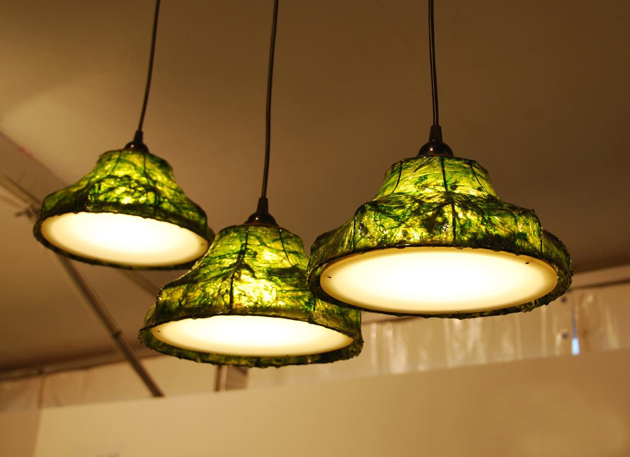 Lamps Made of Seaweed by Nir Meiri