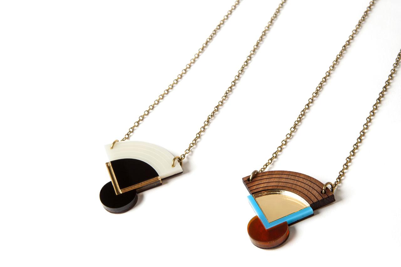 Geometric Japanese-inspired Jewelry from Nylon Sky