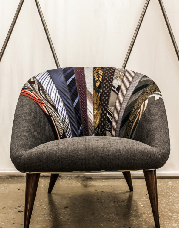 """Recycled """"Side by Side"""" armchair by Karassi Co"""