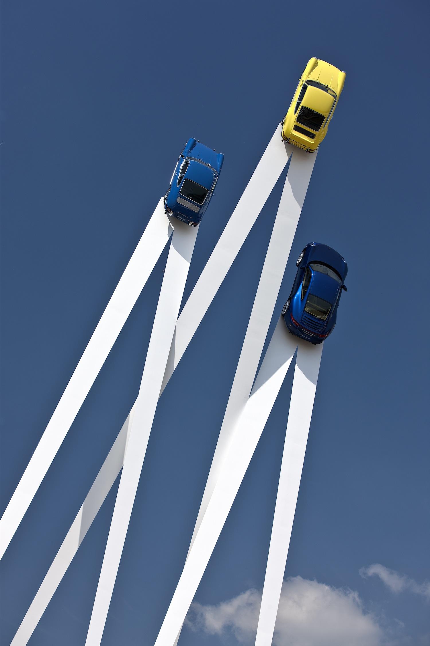 Sky-high Porsche Sculpture by Gerry Judah
