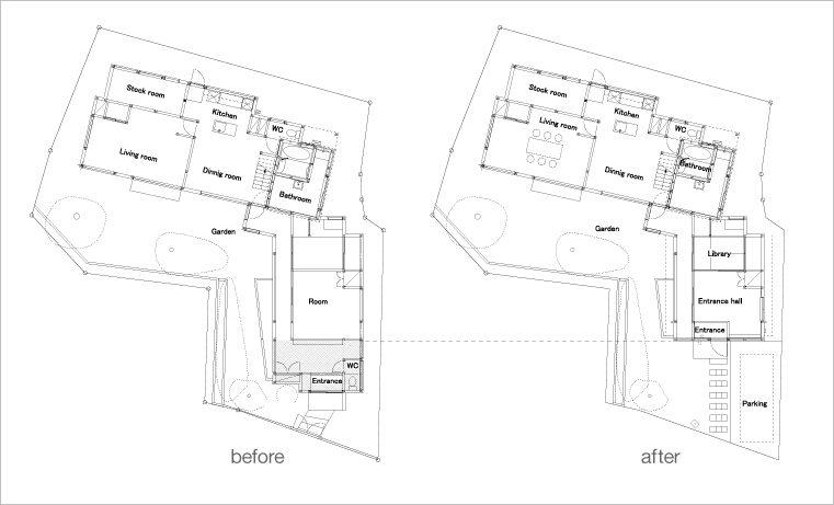 ScaledBackHouse-Roovice-12-before-after-plan
