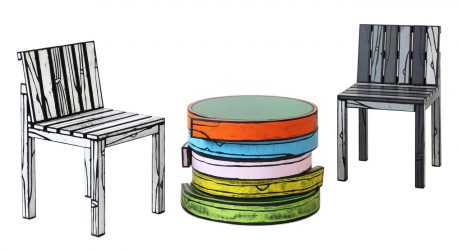 Wrong Woods Do It Again With More Colorful Wood Grain Furniture