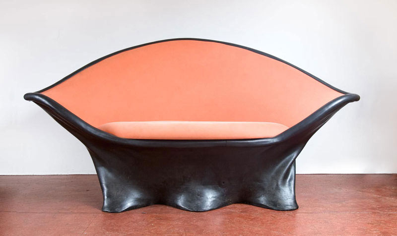creative furniture made with rubber by wout wessemius design milk