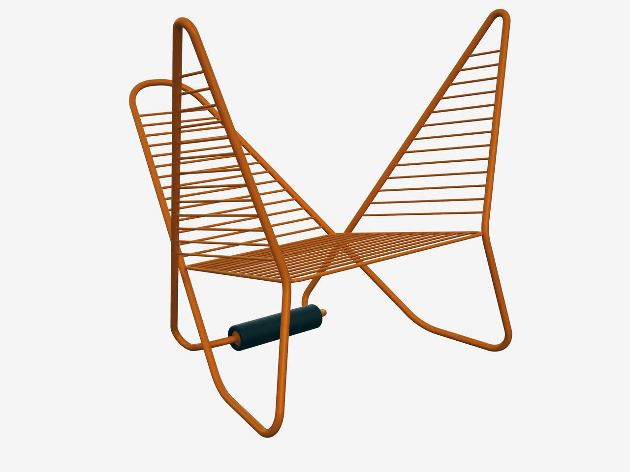 A pretzel like chair that 39 s reversible design milk for Park chair design