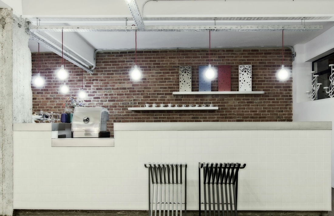 Coffee bar with Utchat Barstool by &Cairo