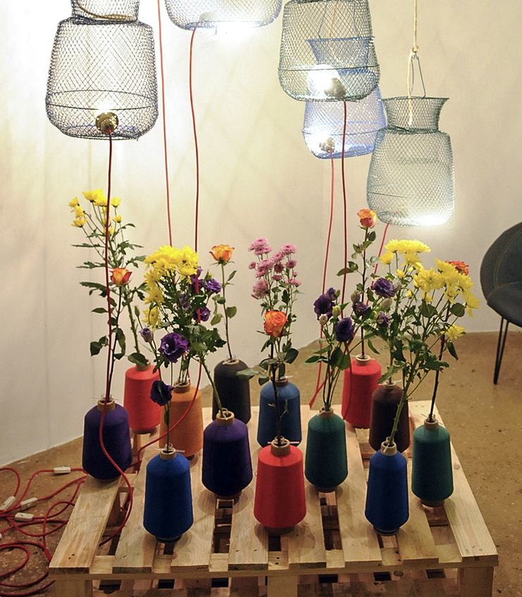 La Fileuse vases by Nathalie Harb