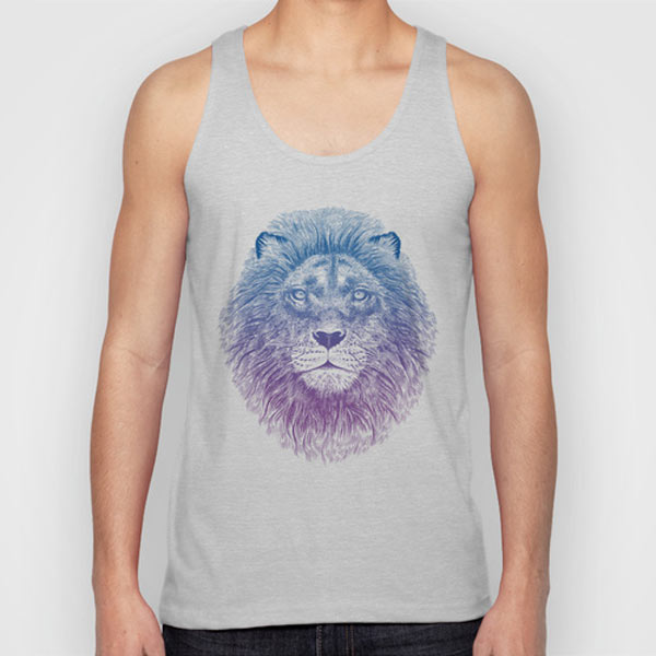 lion-face-tank-top