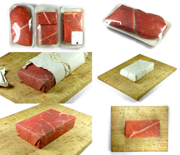 meat-wrapping-paper-trompe- loeil-gift-couture