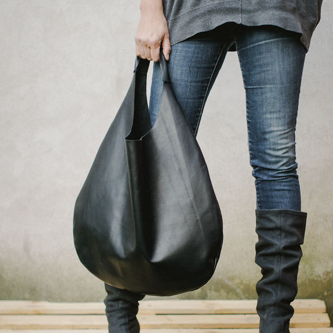 Black Leather Hobo Bag - Design Milk