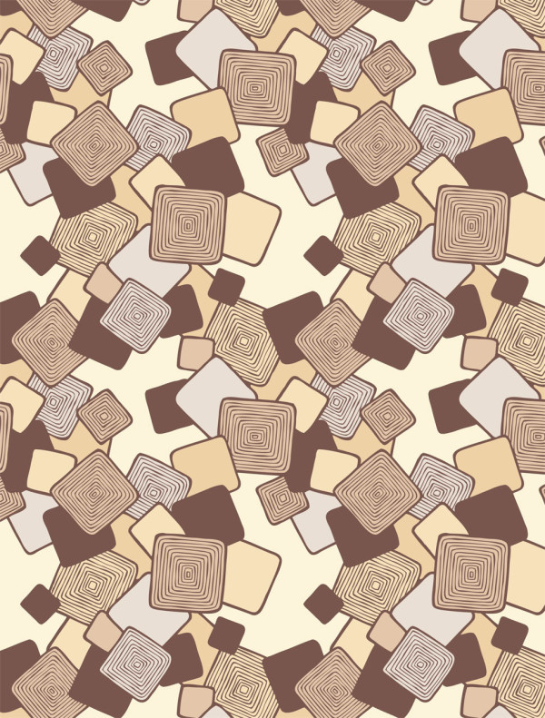 Modern geometric wallpaper - Formation in burnt orange