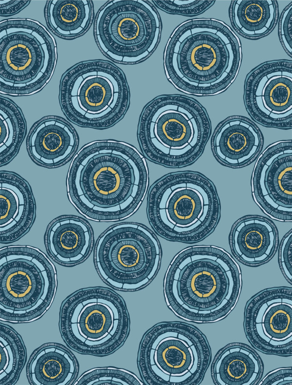 Modern geometric wallpaper - Geode in ocean