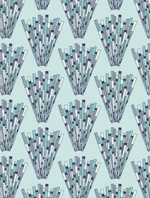 Modern geometric wallpaper - Prism in frost