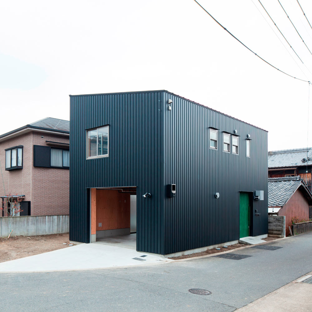 a narrow house filled with plywood by yyaa design milk
