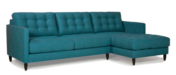 Modern Tufted Sofa Chaise Lounge Avenue 62 Younger