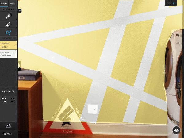 Geometric Wall Mural Laundry Room Makeover In Sponsor Interior Design  Category Part 97