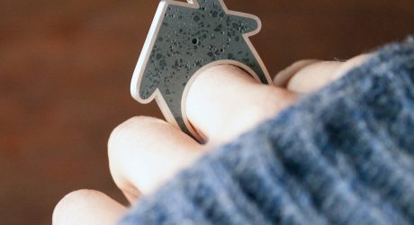 Concrete House Ring by Linda Bennett