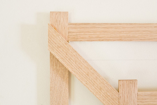 DIY Trompe L'Oeil 3D Coat Rack